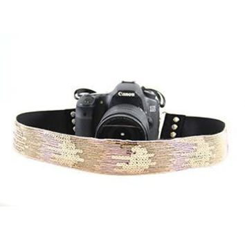 Sequin Ombre Pink 2In Camera Strap Capture Couture - CASLR20-SQOP