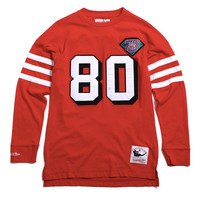 Jerry Rice San Francisco 49ers Name & Number Longsleeve Jersey Red