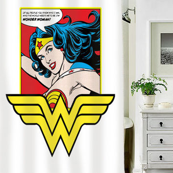 Wonder Women special custom shower curtains that will make your bathroom adorable