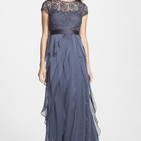 Women's Adrianna Papell Layered Chiffon & Lace Gown