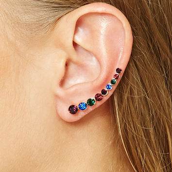 Faux Gem Ear Pins