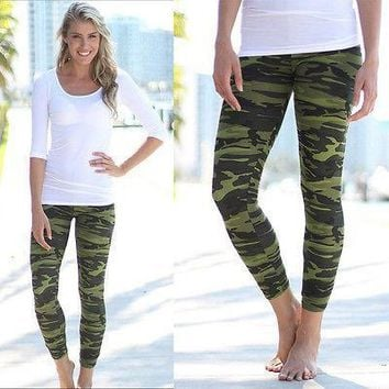 Camouflage Fashion Women's Sexy Skinny Print Leggings Stretch Jeggings Pants