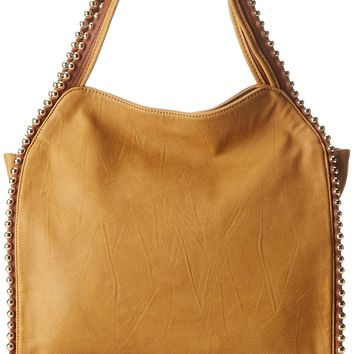 BIG BUDDHA Grayson Top Zip Hobo Shoulder Bag,Butterscotch,One Size