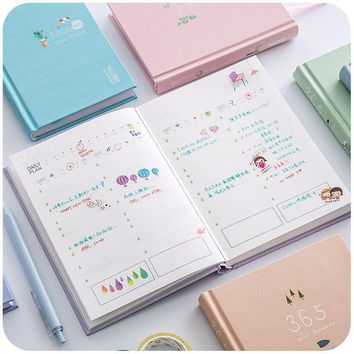 New Arrival 365 Days Personal Diary Planner Hardcover Notebook 2017 Weekly Schedule Cute Korean Stationery Flower Agenda