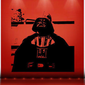 Darth Vader decal sticker Star Wars ATAT Art Wall Decals Wall Stickers tr333