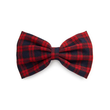 FOREVER 21 Plaid Bow Barrette Red/Black One