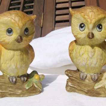 Vintage Owl Salt & Pepper Shakers