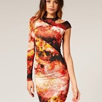 ASOS | ASOS Body-Conscious Dress in Digital Space Print at ASOS