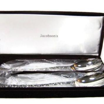 Godinger Silver Art Co Large Silver Serving Spoon Fork