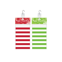Red/Green 24 Pk Paper Treat Bag Clip Strip Display