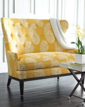 Paisley Settee-Horchow