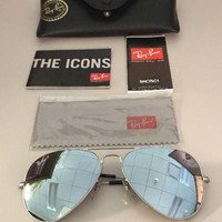 Cheap Ray Ban RB 3025 019/W3 58mm Matte Silver Polarized Silver Mirrored Lens outlet
