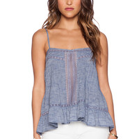 d.RA Sparrow Top in Indigo Chambray