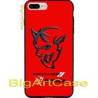 Best New Hot Dodge Demon Logo Art CASE COVER iPhone 6s/6s+7/7+8/8+,X and Samsung