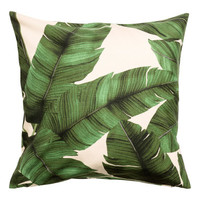 H&M Leaf-print Cushion Cover $12.99