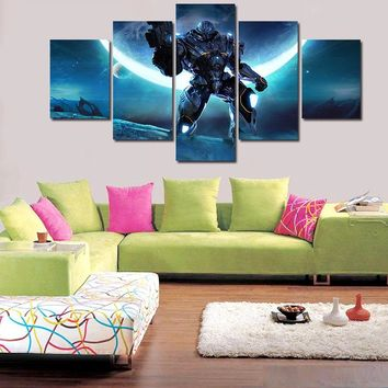 4 Pcsun New Hot Large HD With Superman Cartoon Giants Canvas Print Painting For Living Room Wall Art Picture Gift Without Frame
