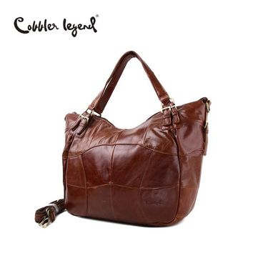 Cobbler Legend Fashion Brand Big Hobos-Shaped Handbag Real Genuine Leather Tote Bag For Lady Women's Large Capacity Shoulder Bag