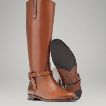 LEATHER RIDING BOOT - Boots - Shoes - WOMEN - United States