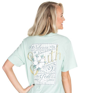 Welcome to the South Pocket Tee in Mint by Lauren James