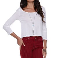 LA Hearts Long Sleeve Loose Cropped Top at PacSun.com