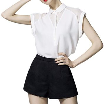 Women Chiffon Blouse Elegant Shirts Female Work Wear Office Blouses Ladies Tops Clothing White
