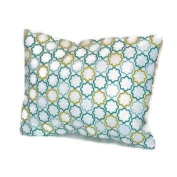 Aromatherapy Herbal Dream Pillow - Turquoise Lime Green Circles - (Blends Available: Restful, Peaceful, Romantic, or Creativity)