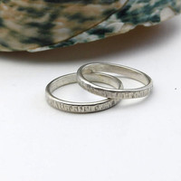 textured Sterling Silver Stacker Ring