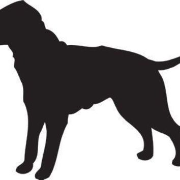 Curly Coated Retriever Silhouette Dog Puppy Breed Long Die Cut Vinyl Transfer Decal Sticker