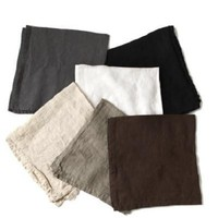 DEBORAH RHODES Washed Linen Napkins-| Neutral