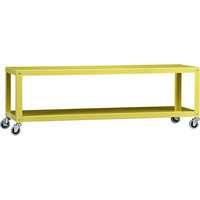 go-cart chartreuse two-shelf table-media cart in new furniture | CB2