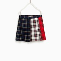 PLAID PANEL SKIRTDETAILS