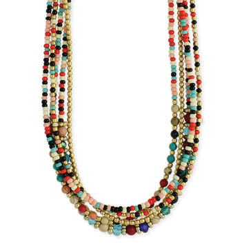 Bohemian Multi Beaded Necklace