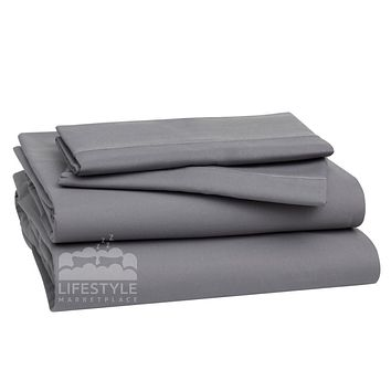 Queen Sheets - Frost Gray - Deep Sleep 1800 Thread Count Sheet Set - Breathable, Ultra Soft, Deep Pockets