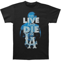 Tupac Men's  Live To Die In LA T-shirt White Rockabilia