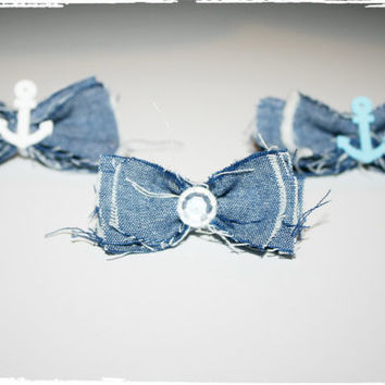 Shabby Chic Country Anchor Hair bows