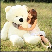 "White 1.2M 47"" Giant Huge Cuddly Stuffed Animals Plush Teddy Bear Toy Doll"