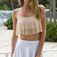 Got a Hold On Me Crop Top - Nude