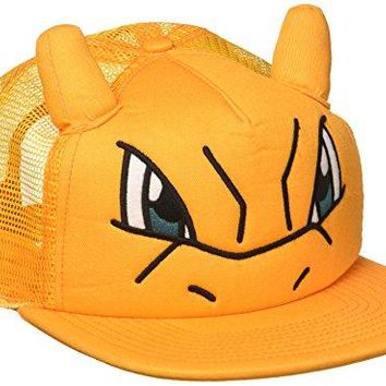 Bioworld Pokemon Charizard Big Face Trucker Snapback Hat With Ears