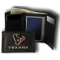 Rico Houston Texans Embroidered Tri Fold Wallet
