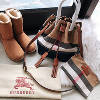 Burberry Check Canvas Bucket bag