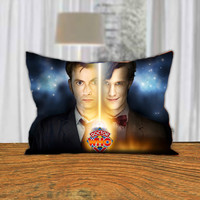 """PillowQ - Doctor Who Tardis David Tennant - Design for Pillow Cover/Pllow Case 18""""x18"""" and 30""""x20"""" - Front Side Print or Full Side Print"""
