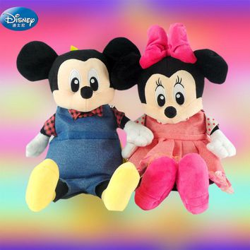Disney Mickey Minnie Mouse girls Plush Backpacks cute  Stuffed Animals toys boys Backpack School Bag kids gift