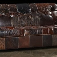 Leather patches sofa, USA made, Great looking and great price