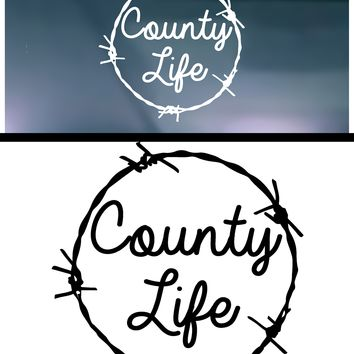 Country Life (Circle) Vinyl Graphic Decal
