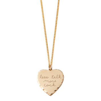 Sweet Nothing Necklace Brass / Less Talk More Cock