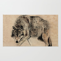Wolf Rug by Anna Shell