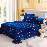 The moon and the stars Blanket Home Textile Super Soft coral fleece blankets on the bed bedclothes Towelscan be as bed sheet CB2