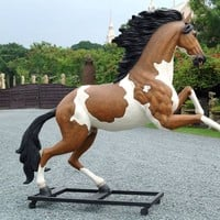 Bucking Indian Horse Statue Life Size