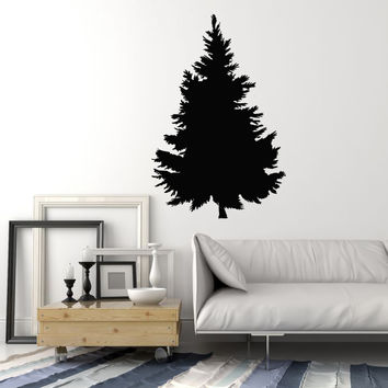 Vinyl Wall Decal Fir Tree Nature Room Art Decorating Stickers Mural Unique Gift (ig5004)