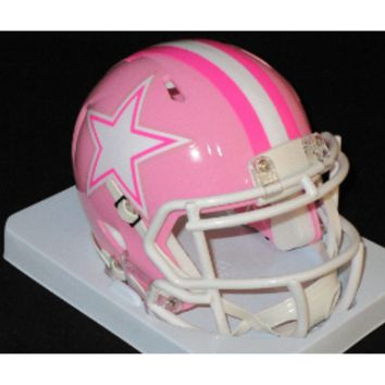 Dallas Cowboys Riddell Pink Speed Mini Helmet